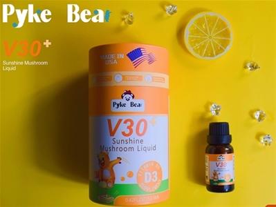 派克熊V30阳光蘑菇饮液(D3)天然植物提取,助力好成长