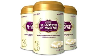 阳光呵护婴幼儿配方奶粉
