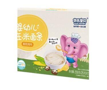 华氏宝贝婴幼儿玉米面条(香菇鸡肉)