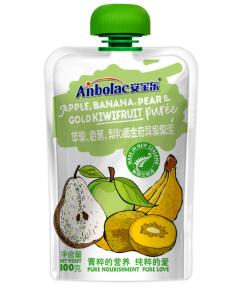 安宝乐 苹果香蕉梨黄金奇异果果泥