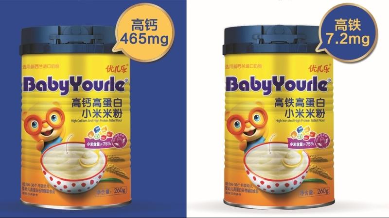 优儿乐高蛋白配方小米米粉系列