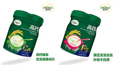 欧贝可益生菌奶米粉系列