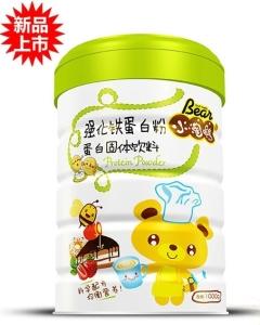 小淘熊强化铁蛋白粉蛋白固体饮料(听装)