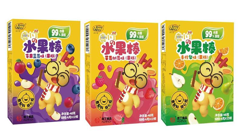 本丁kiddychoice孩之选水果棒系列